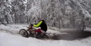 Vinterenduro på Björbybanan